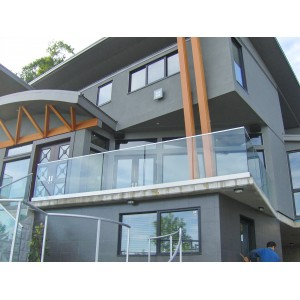 Glass railing Base Shoe System Vancouver BC